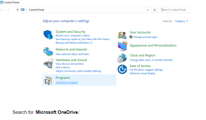 how to remove onedrive account from windows 10
