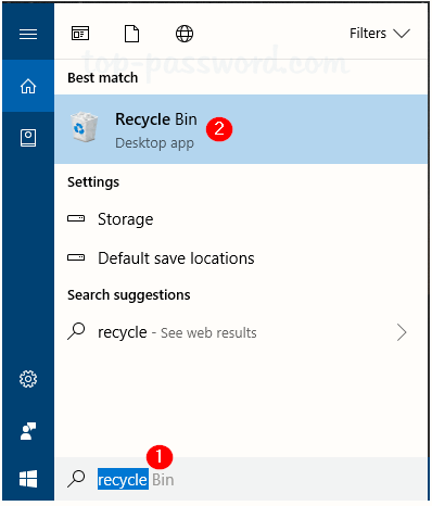 where is recycle bin in windows 10 located