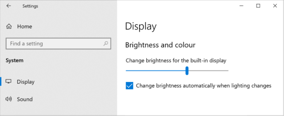 how to adjust brightness on extended monitor windows 10