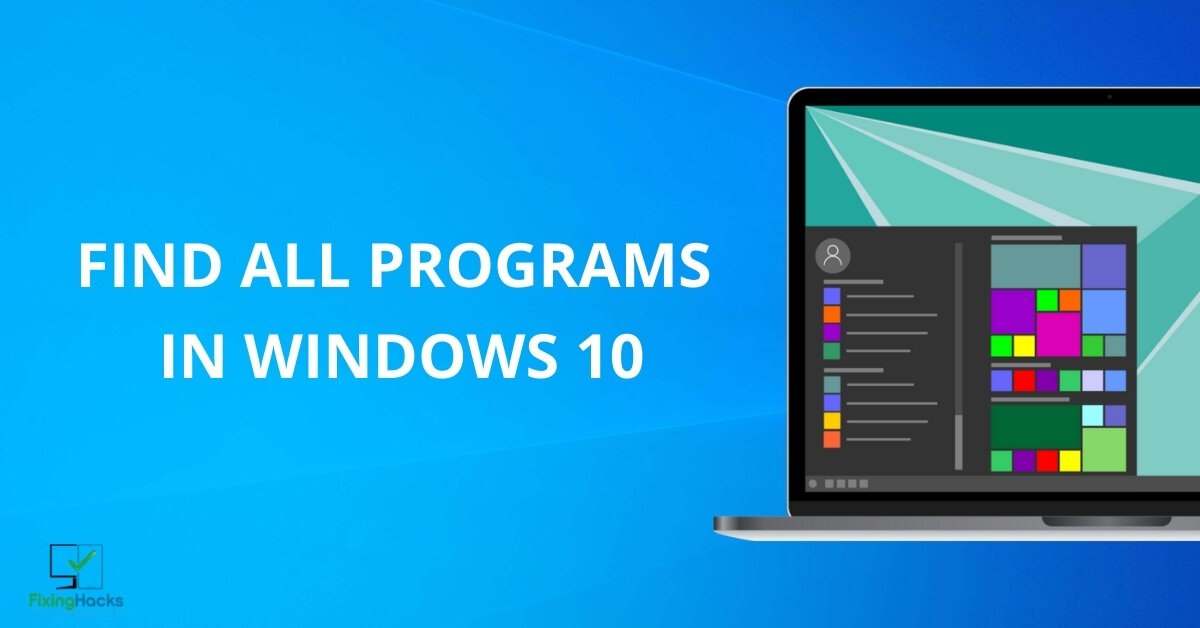 where is all programs in windows 10