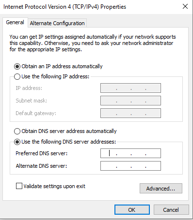 How to configure dns on windows 10