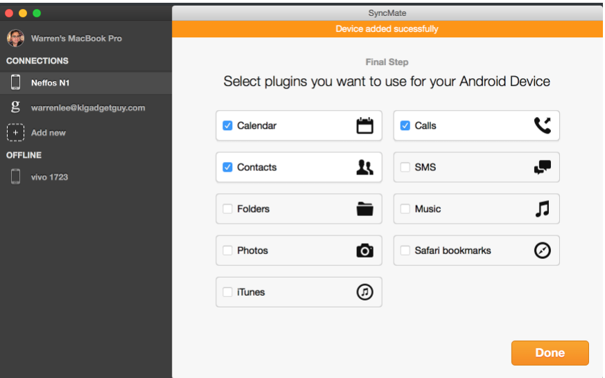 how to transfer photos from an android to a mac