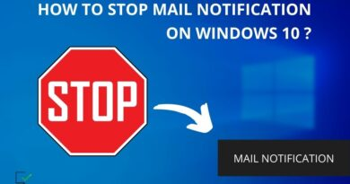 how to stop mail notification on windows 10