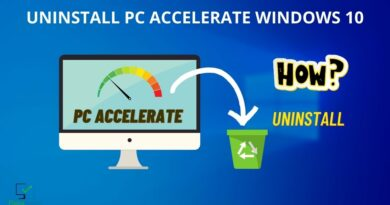 how to uninstall pc accelerate windows 10