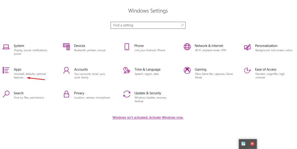 How to uninstall PC accelerate on Windows 10