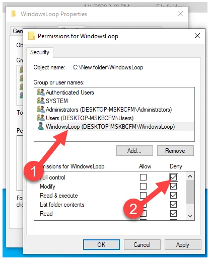 How to restrict access to a folder in windows 10