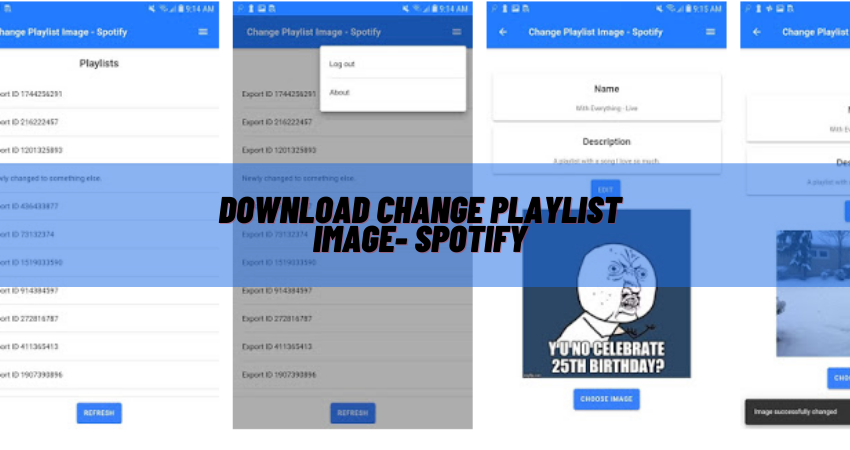 how to change playlist picture on spotify on phone android