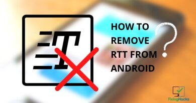 how to remove rtt from android