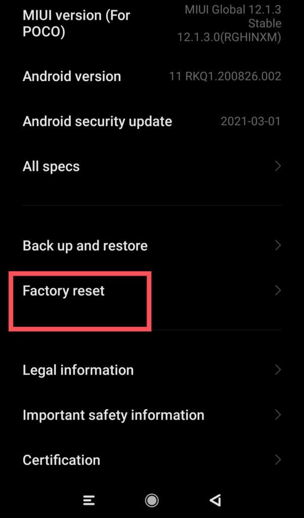 how to clear a android phone