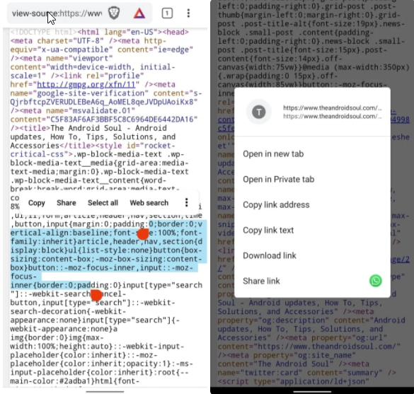 How to Edit Inspect Element in Android